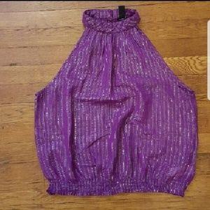 Forever 21 purple sleeveless blouse